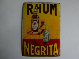 Ancienne Plaque Publicitaire Métal RHUM NEGRITA - Blechschilder (ab 1960)