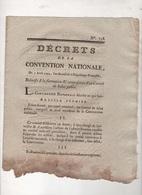 DECRETS DE LA CONVENTION NATIONALE 1793  FORMATION & COMPOSITION DU COMITE DE SALUT PUBLIC DANTON - MARSEILLE / TARASCON - Décrets & Lois
