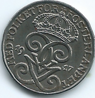Sweden - 1917 - Gustav V - 1 Öre - KM789 - Iron Coin - Sweden