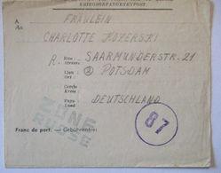 POW Mail Belgien Bergwerk BO VI Borinage Erbisoeul 1946 (50981) - Sowjetische Zone (SBZ)