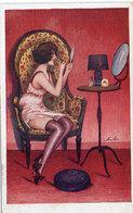 Xavier SAGER - Coquetterie - Femme Devant Miroir - Erotisme   (583 ASO) - Sager, Xavier