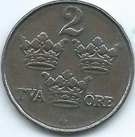 Sweden - 1917 - Gustav V - 2 Öre - KM790 - Iron Coin - Sweden