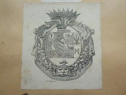 Lot De 2 Ex-libris Héraldiques Italien Fin XVIIIème - Début XIXème - BORROMEO-ARESE - Bookplates