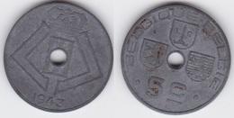 LOT27  LEOPOLD III  5 CENTIMES ZINC TYPE JESPERS  1943 Française/Flamande - 1934-1945: Leopold III