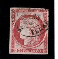 Lot 114  Colonies Générales  YT 21  GUADELOUPE Basse Terre - France (ex-colonies & Protectorats)
