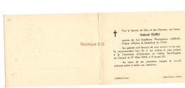 Faire Part Gabriel Duru Lebrun Eveque Autun Saint Eugene Du Creusot 27/03/1949 Lamorlaye Oise - Communion