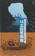 Télécarte Japon / 330-52303 - BATEAU VOILIER & Pagode - SAILING SHIP & Temple Japan Phonecard - SCHIFF - 428 - Boats