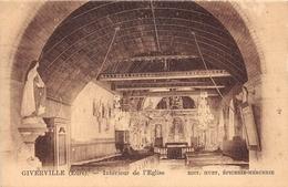GIVERVILLE - Intérieur De L'Eglise - France