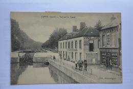 CEPOY-vue Sur Le Canal-epicerie De La Marne-chevaux Halant Peniche - France