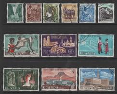 Uganda 1962 Independance Full Stamp Set. Fine Used. - Uganda (1962-...)