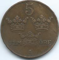 Sweden - 1923 - Gustav V - 5 Öre - KM779.2 - Suecia