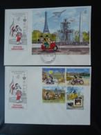 FDC (x2) Walt Disney Mickey Concorde Grenada Grenadines Philexfrance 1989 - Disney