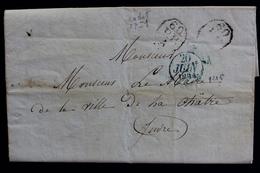 1834 PARIS CAD BLEU 20/06/1834 POUR LA CHÂTRE CAD ARRIVEE DU 22/06/1834 MARQUES 60 P.P. A - Postmark Collection (Covers)