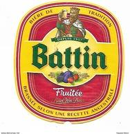 6 ETIQUETTES BIERE / BATTIN - Beer