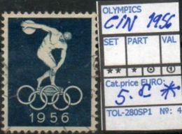 OCEANIA:AUSTRALIA#OLYMPIC GAMES MELBOURNE1956 #SERIE(S) (TOL 280SP-1 (04) - Sommer 1956: Melbourne