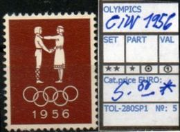OCEANIA:AUSTRALIA#OLYMPIC GAMES MELBOURNE1956 #SERIE(S) (TOL 280SP-1 (05) - Sommer 1956: Melbourne
