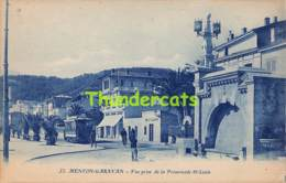 CPA 06 MENTON GARAVAN VUE PRISE DE LA PROMENADE ST LOUIS TRAM TRAMWAY - Menton