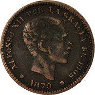 Monnaie, Espagne, Alfonso XII, 5 Centimos, 1879, TB, Bronze, KM:674 - Provincial Currencies
