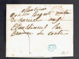 Lac De Sottegem ( Herlant T. 16 ) 22 Août 1846 => Ecaussinnes Par Braine Le Comte Griffe SR Encadrée - 1830-1849 (Belgique Indépendante)