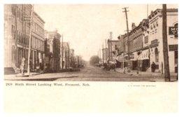 Nebraska Fremont  Sixth Street Looking West - Autres