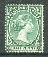 Falkland Islands 1891-1902 QV ½d Blue-green MNG (SG 15) - Falklandeilanden