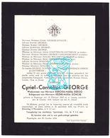 DB Cyriel C. George ° Poperinge 1868 † 1934 X E. Deroo Xx H. Donche / Couttenye Catteeuw Vanlandschoot Willemyns Polley - Todesanzeige