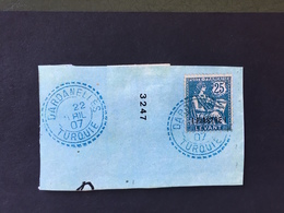 Beau Cachet DARDANELLES-TURQUIE Sur 25 Poste Française - 1858-1921 Empire Ottoman