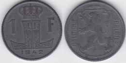 LOT31  LEOPOLD III  1 FRANC ZINC  TYPE RAU  1942 Française/Flamande - 1934-1945: Leopold III