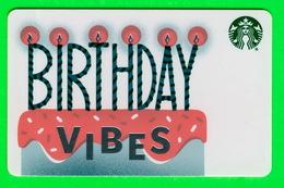 STARBUCKS, COFFE CO, 2019 - BIRTHDAY VIBES - - Cartes Cadeaux