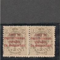 SPANISH MOROCCO1915:Edifil58mnh**pair - Maroc Espagnol