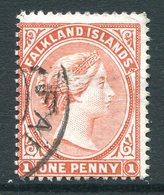 Falkland Islands 1891-1902 QV 1d Pale Red Used (SG 23) - Falklandeilanden