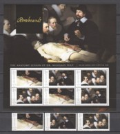 Grenada - MNH Sheet & Serie (5) PAINTING REMBRANDT - THE ANATOMY LESSON (1632) - Rembrandt
