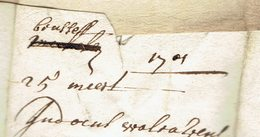 Lac  De  Brussel? (1er Scan ) 25 Maart 1701 => Antwerpen - 1621-1713 (Paesi Bassi Spagnoli)