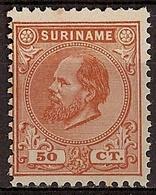 Suriname NVPH Nr 13D Ongebruikt/MH Koning Willem III 1880 - Surinam ... - 1975