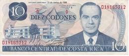 BILLETE DE COSTA RICA DE 10 COLONES AÑO 1980 EN CALIDAD EBC (XF)  (BANKNOTE) - Costa Rica
