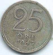 Sweden - 1947 - Gustav V - 25 Öre - KM816 - Suecia