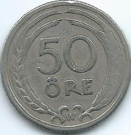 Sweden - 1924 - Gustav V - 50 Öre - KM796 - Suecia