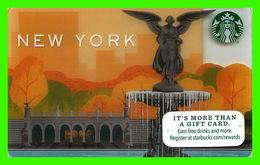 STARBUCKS, COFFE CO, 2014 -  NEW YORK, FOUNTAIN - - Cartes Cadeaux