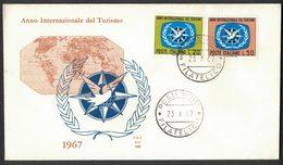 IK114     Italia 1967 FDC Anno Internazionale Del Turismo - 6. 1946-.. Republic