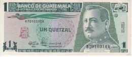 BILLETE DE GUATEMALA DE 1 QUETZAL DEL AÑO 1990 CALIDAD EBC (XF)  (BANKNOTE) RARO - Guatemala
