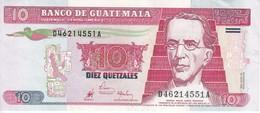 BILLETE DE GUATEMALA DE 10 QUETZALES DEL 29 JULIO 1998 (BANKNOTE) - Guatemala
