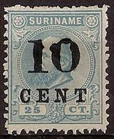 Suriname NVPH Nr 32 Opdrukafwijking Van De 10 Ongebruikt/MH Hulpuitgifte 1898 - Surinam ... - 1975