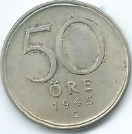 Sweden - 1945 - Gustav V - 50 Öre - KM817 - Suecia