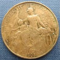 France  10 Centimes 1908 Dupuis - Francia
