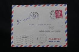 ALGÉRIE - Enveloppe Commerciale De Alger Pour La France En 1956, Publicité Au Verso - L 60639 - Algeria (1924-1962)