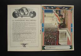 Quaderno Di Scuola Non Usato Vittorie Fondazione Impero 1936 Mussolini Boccasile - Vecchi Documenti