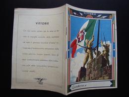Quaderno Di Scuola Non Usato Vittorie Tricolore Anni '30 Boccasile - Vecchi Documenti