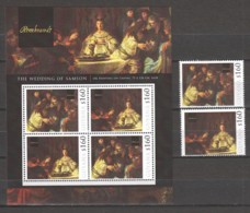 Guyana - MNH Sheet & Serie (1) PAINTING REMBRANDT - THE WEDDING OF SAMSON (1638) - Rembrandt