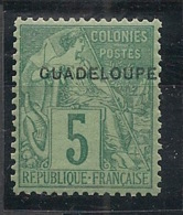 Guadeloupe - 1891 - N°Yv. 17 - 5c Vert - Neuf Luxe ** / MNH / Postfrisch - Guadeloupe (1884-1947)