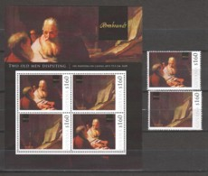 Guyana - MNH Sheet & Serie (4) PAINTING REMBRANDT - TWO OLD MEN DISPUTING (1628) - Rembrandt